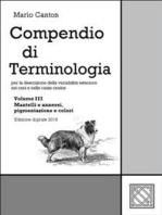 Compendio di Terminologia - Vol. III