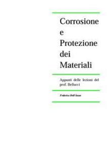 Corrosione e Protezione dei Materiali