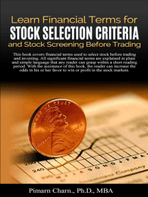 Learn Financial Tearms for Stock Selection Criteria and Stock Screening Before Trading