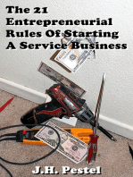 The 21 Entrepreneurial Rules of Starting A Service Business