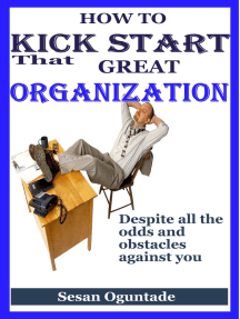 How to Kick Start That Great Organisation Despite All the Odds and Obstacles Against You