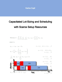 Capacitated Lot-Sizing and Scheduling with Scarce Setup Resources
