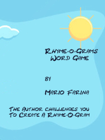 Rhyme-O-Grams Word Game