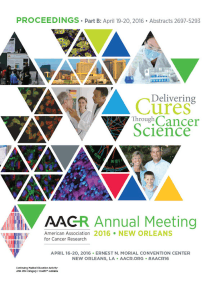 Read Aacr 2016 Abstracts 1 2696 Online By American Association For Cancer Research Aacr Books