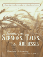 Seeds for Sermons, Talks, and Addresses
