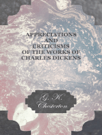 Appreciations and Criticisms of the Works of Charles Dickens