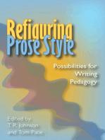 Refiguring Prose Style
