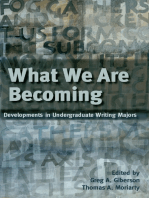 What We Are Becoming