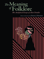 Meaning of Folklore: The Analytical Essays of Alan Dundes