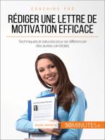 Rédiger une lettre de motivation efficace