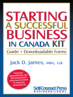 Starting a Successful Business in Canada Kit