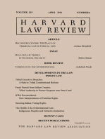 Harvard Law Review: Volume 129, Number 6 - April 2016