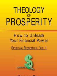 Theology of Prosperity