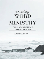 Unveiling Word Ministry From 2Corinthians and Colossians