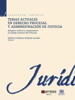 Temas actuales en derecho procesal y administración de justicia