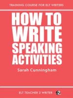 How To Write Speaking Activities