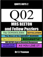 Mrs Beeton and Fellow Puzzlers (Quote-Outs 2)