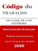 Código do Trabalho e do Processo do Trabalho
