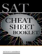 Sat Cheat Sheet Booklet