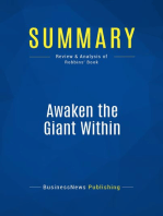 Awaken the Giant Within (Review and Analysis of Robbins' Book)