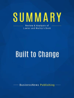 Built to Change (Review and Analysis of Lawler and Worley's Book)