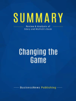 Changing the Game (Review and Analysis of Edery and Mollick's Book)