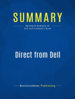 Direct from Dell (Review and Analysis of Dell and Fredman's Book)