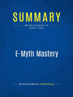 E-Myth Mastery (Review and Analysis of Gerber's Book)