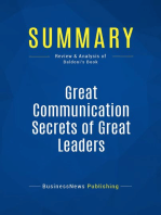 Great Communication Secrets of Great Leaders (Review and Analysis of Baldoni's Book)