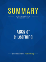 ABCs of e-Learning (Review and Analysis of Broadbent's Book)