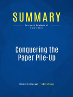 Conquering the Paper Pile-Up (Review and Analysis of Culp's Book)