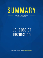 Collapse of Distinction (Review and Analysis of McKain's Book)