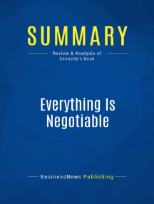 Everything Is Negotiable (Review and Analysis of Kennedy's Book)