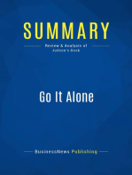 Go It Alone (Review and Analysis of Judson's Book)