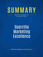 Guerrilla Marketing Excellence (Review and Analysis of Levinson's Book)