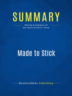 Made to Stick (Review and Analysis of the Heath Brothers' Book)