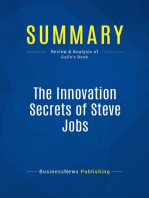 The Innovation Secrets of Steve Jobs (Review and Analysis of Gallo's Book)