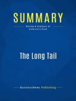 The Long Tail (Review and Analysis of Anderson's Book)