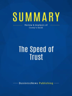 The Speed of Trust (Review and Analysis of Covey's Book)