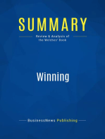 Winning (Review and Analysis of the Welches' Book)