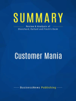 Customer Mania (Review and Analysis of Blanchard, Ballard and Finch's Book)