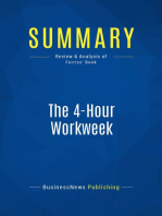 The 4-Hour Workweek (Review and Analysis of Ferriss' Book)