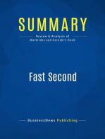 Fast Second (Review and Analysis of Markrides and Geroski's Book)