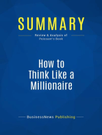 How to Think Like a Millionaire (Review and Analysis of Poissant's Book)