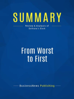 From Worst to First (Review and Analysis of Bethune's Book)