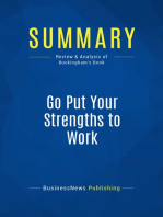 Go Put Your Strengths to Work (Review and Analysis of Buckingham's Book)