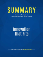 Innovation That Fits (Review and Analysis of Lord, Debethizy and Wager's Book)