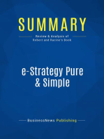 e-Strategy Pure & Simple (Review and Analysis of Robert and Racine's Book)