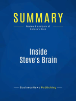 Inside Steve's Brain (Review and Analysis of Kahney's Book)