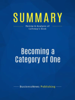 Becoming a Category of One (Review and Analysis of Calloway's Book)